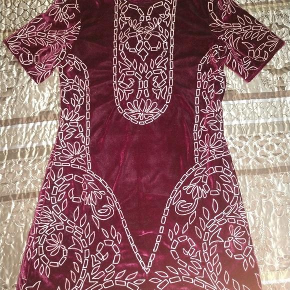 Chelsea & Violet Dresses & Skirts - Chelsea and Violet embroidered velvet dress